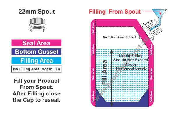 Spout Pouch Measuring 22mm