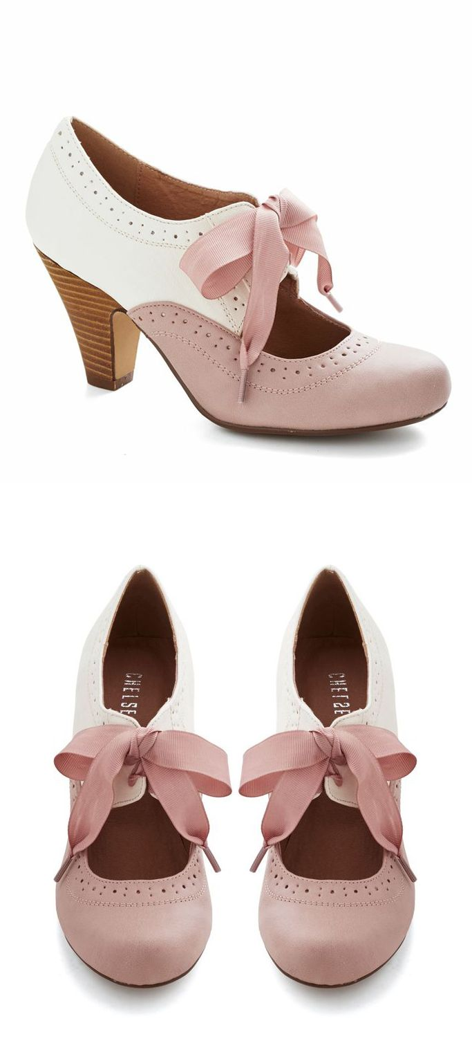 #Cream #Blush #retro #oxfords