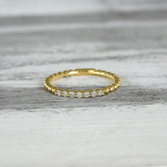 Ring in 18 kt yellow gold with natural brilliant-cut white diamonds of 0,14 ct. The #ring is available in white gold, rose gold but you can also customize carats, quality, and color of #gemstones. All our #jewelry are made in italy. Contact us for any particular request.