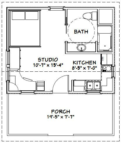 20x16 House -- #20X16H14 -- 311 sq ft - Excellent Floor Plans