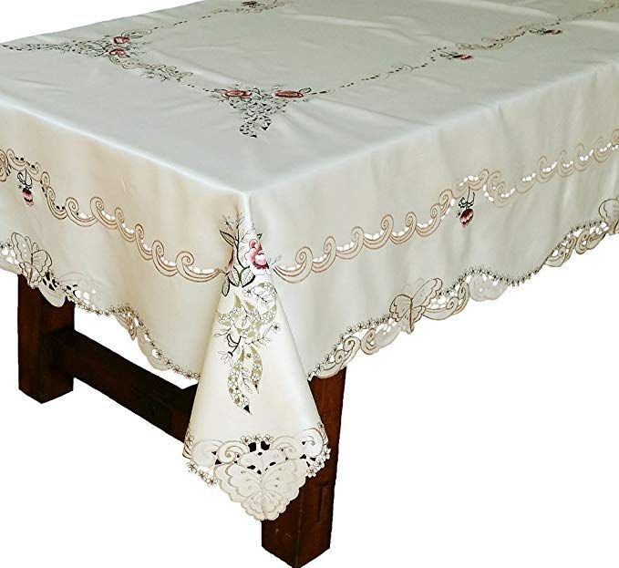 Xia Home Fashions Splendid Meadow Embroidered Cutwork Floral