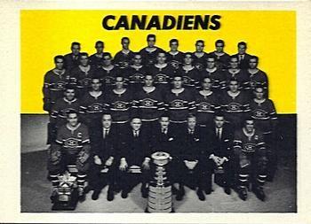 1965-66 Topps Hockey 126 Montreal Canadiens Hockey Card
