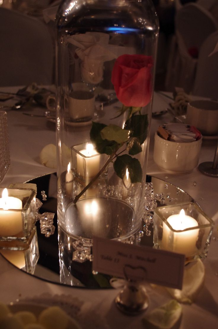Beauty And The Beast: The Enchanted Rose Centerpiece