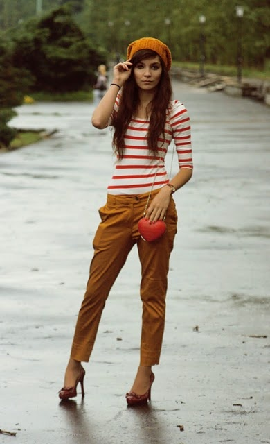 love: Hats, Orange, Color Combos, Street Style, Pants, Outfit, Heels, Hair, Fall Color