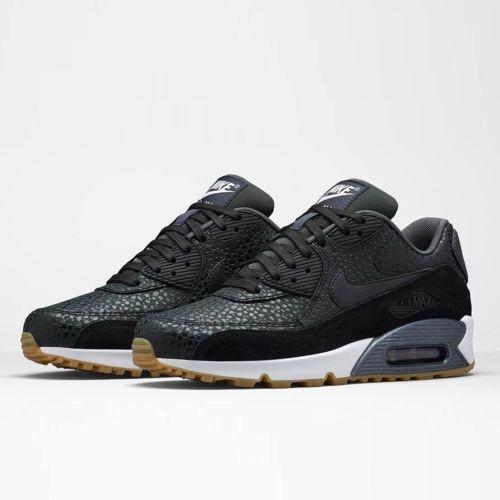Nike-WMNS-Air-Max-90-PRM-443817-006-Running-Safari-Black-White-Gum-6-5-7-5-8-5