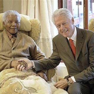 President Clinton and Nelson Mandela