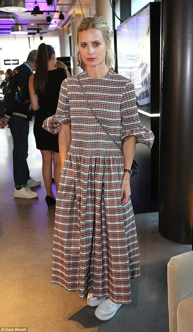 Plaid-ing it simple: Laura Bailey proved her innate style once again on Wednesday as she s...