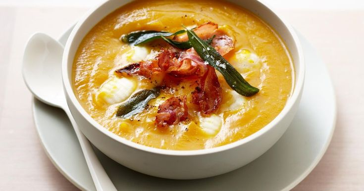 Turn your favourite pumpkin soup recipe into a hearty meal by adding gnocchi and crisp pancetta.