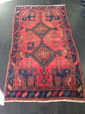 3'8 x 6'6 Genuine s Antique Persian Mehriban Tribal Hand Knotted Wool Area Rug | eBay