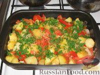 Фото к рецепту: Запеченый картофель с томатами