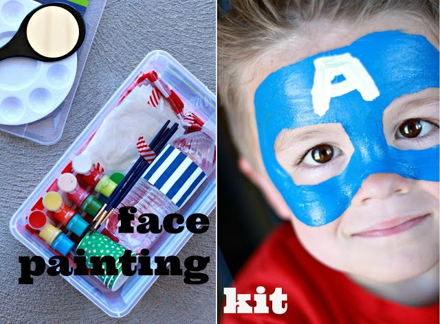 Make a face painting kit - great to bring on the go!