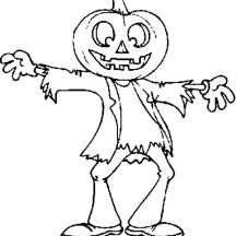Printable Halloween Pumpkin Ghost Coloring Pages
