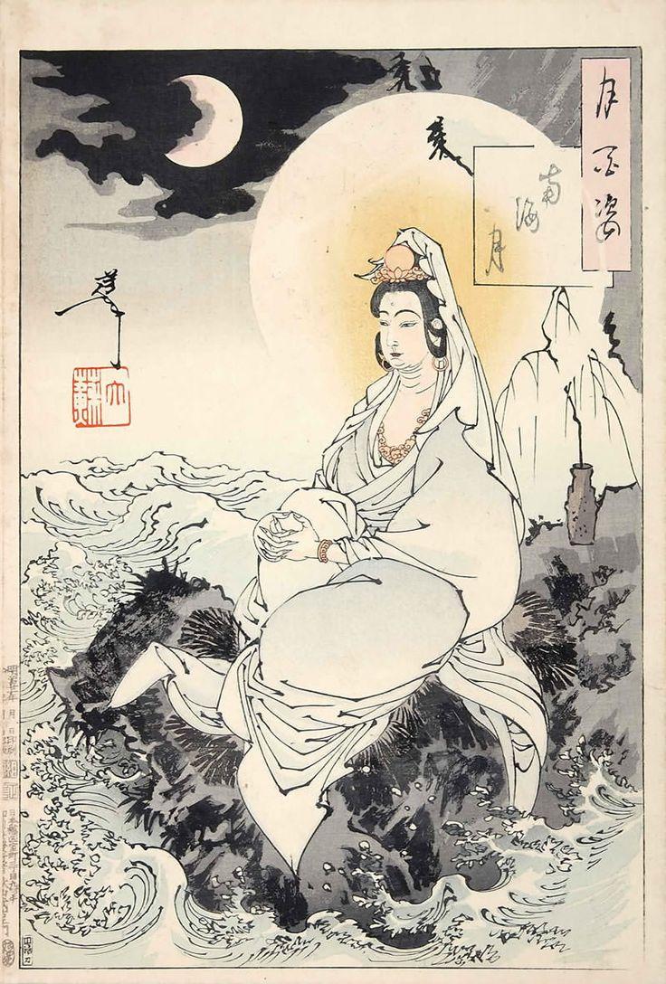 jap b0ndage 25 Yoshitoshi Tsukioka.南海月(『月百姿』シリーズ/画・月岡