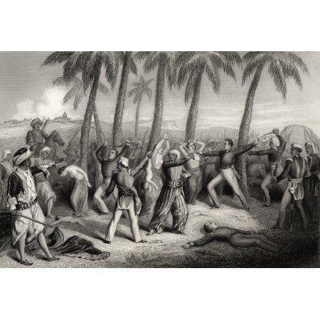 Massaker an englischen Offizieren und ihren Frauen in Jhansi 1857 Aus der Geschichte …   – Battles on Land