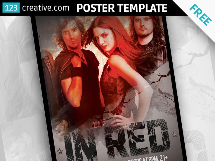 FREE DIRTY RED EVENT POSTER DESIGN TEMPLATE - grunge and dirty poster design template for your next party, concert or event in your club available in 2 color variations light and dark. Usable also as book cover. - Download at:  https://www.123creative.com/print-graphic-templates-flyer-poster-card-designs/1046-free-dirty-red-event-poster-design-template-.ht