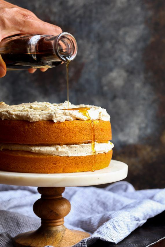 Perfect Pumpkin Cake with Browned Butter Maple Frosting. This cake starts with a…