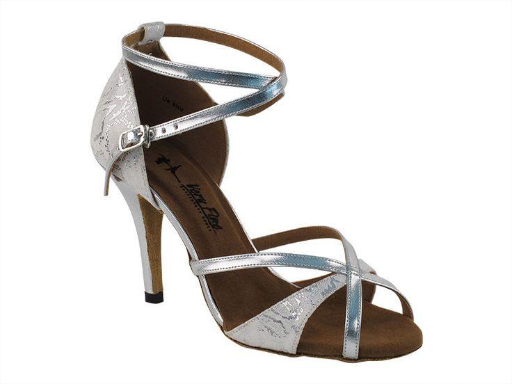 Latin Salsa Very Fine Ballroom Dance Bridal Shoes 2829ledss White Silver