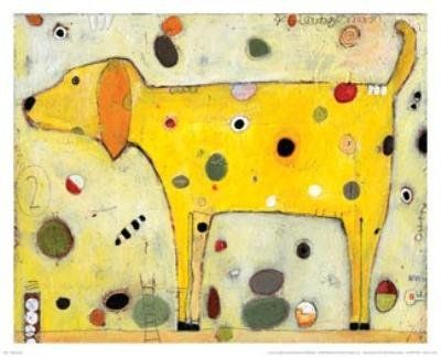 Yellow Dog - Poster by Jill Mayberg (16 x 13) The Poster Corp http://www.amazon.com/dp/B002ZKJYB4/ref=cm_sw_r_pi_dp_kF3bub1AT24Y5