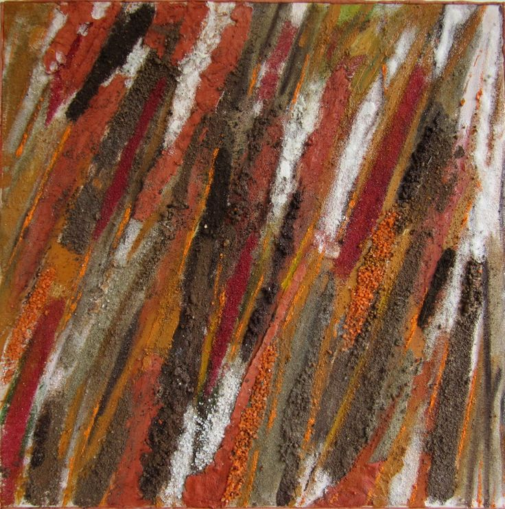 """ Trame terrose"" terre,sale,acrilico cm 60 x 60"
