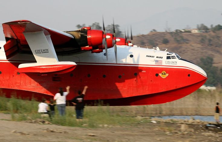 I have always wanted to see one of these in action.  These Martin Mars are one of the largest seaplanes ever built.