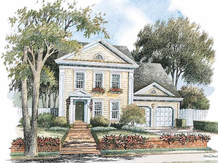 17 best images about classical revival on pinterest for One story greek revival house plans
