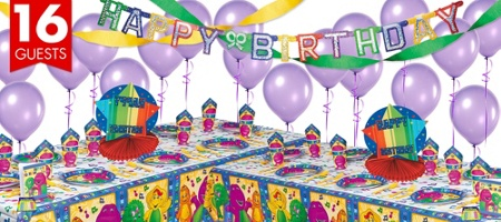 Barney Themed Birthday! Barney Party Supplies - Barney Birthday - Party City