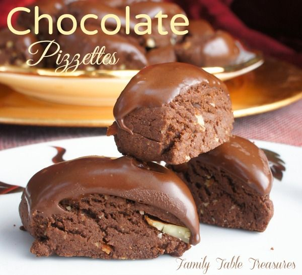 Chocolate Pizzettes are a classic Italian chocolate cookie. Similar to Biscotti, Pizzettes combine rich chocolate, toasted almonds and warm spices to create a unique flavor that's absolutely delectable! Christmas is a week away and my baking has kicked into high gear. So many delicious delectable treats to be made and only so much time left …