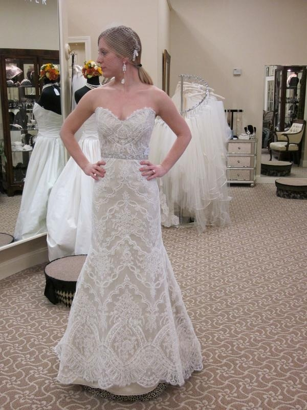 Beautiful Lace Marisa Wedding Dress at Mary Me. wedding-gowns-at-mary-me