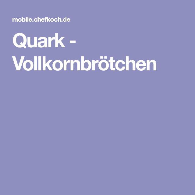 Quark - Vollkornbrötchen