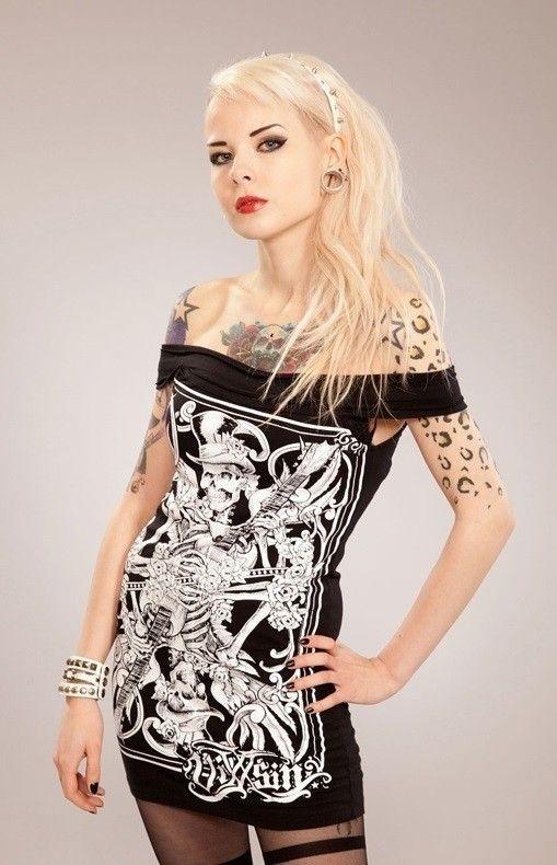 Sukienka, tunika z nadrukiem - FIDDLER TOP | KOBIETY \ Sukienki | Rockzone.pl - rockowy sklep internetowy