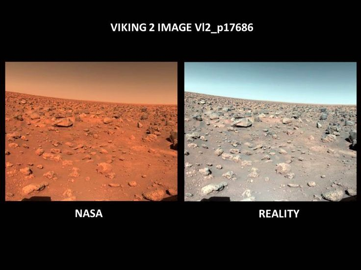 Red vs Blue Sky on Mars — Viking Lander