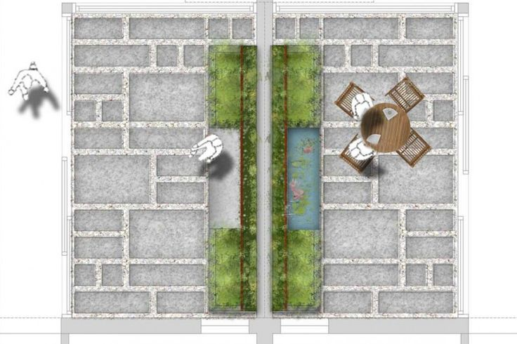 Camperdown private residential courtyard concept design.