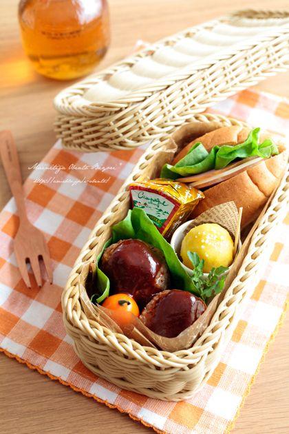 全粒粉パンサンドとハンバーグのランチボックス♪ |あ~るママオフィシャルブログ「毎日がお弁当日和♪」Powered by Ameba