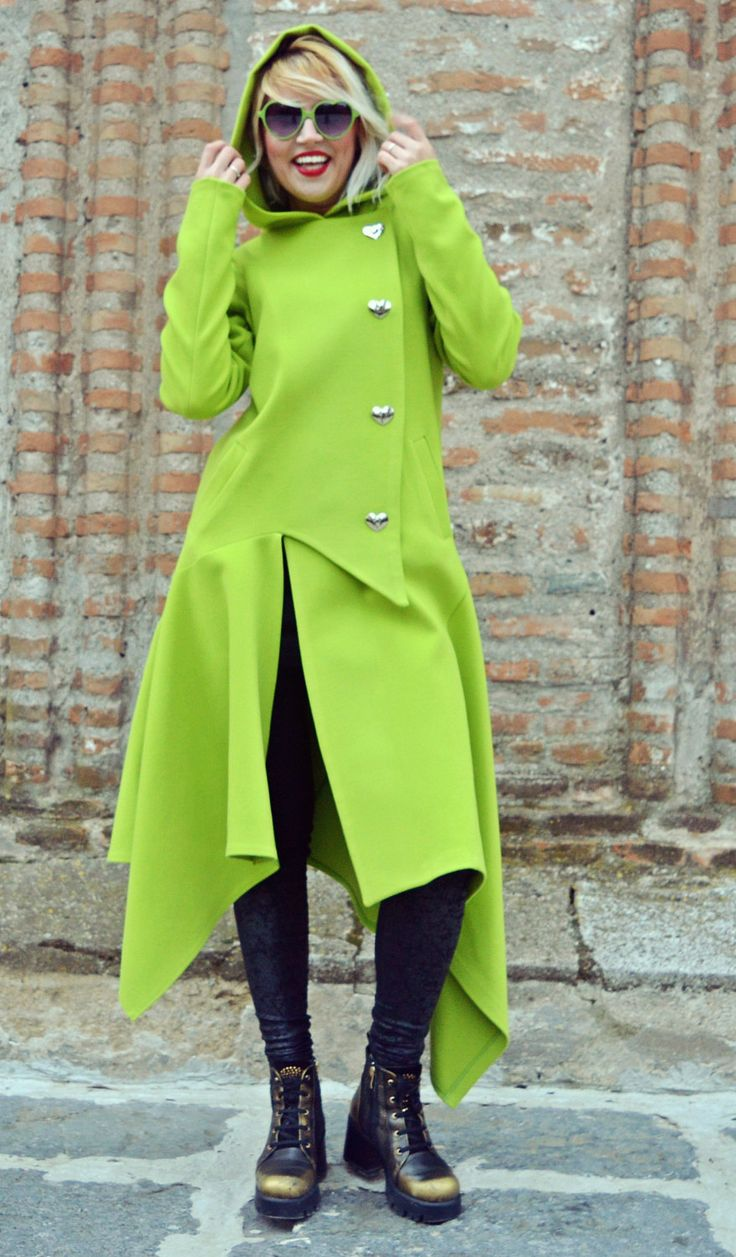 Now selling: Light Green Asymmetrical Coat / Extravagant Light Green Cashmere Coat / Funky Hooded Coat / Asymmetrical Hooded Coat TC72 https://www.etsy.com/listing/476016974/light-green-asymmetrical-coat?utm_campaign=crowdfire&utm_content=crowdfire&utm_medium=social&utm_source=pinterest