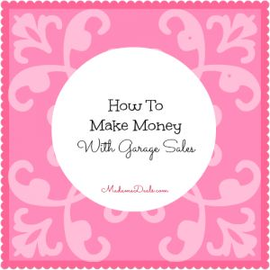 how to make money from a yard sale