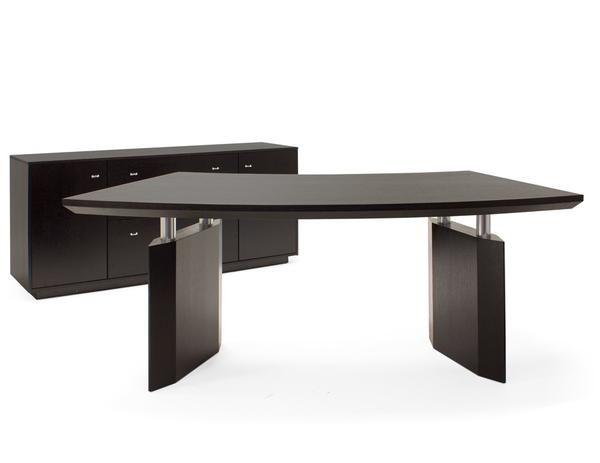Chic Curved Executive Desk In Wenge Curved Desk Desk Modern