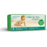 Seventh Generation Chlorine Free Diapers, Stage 3 (16-28 Lbs), 40-Count Packages (Pack of 4) (160 Diapers) (Health and Beauty)By Seventh Generation