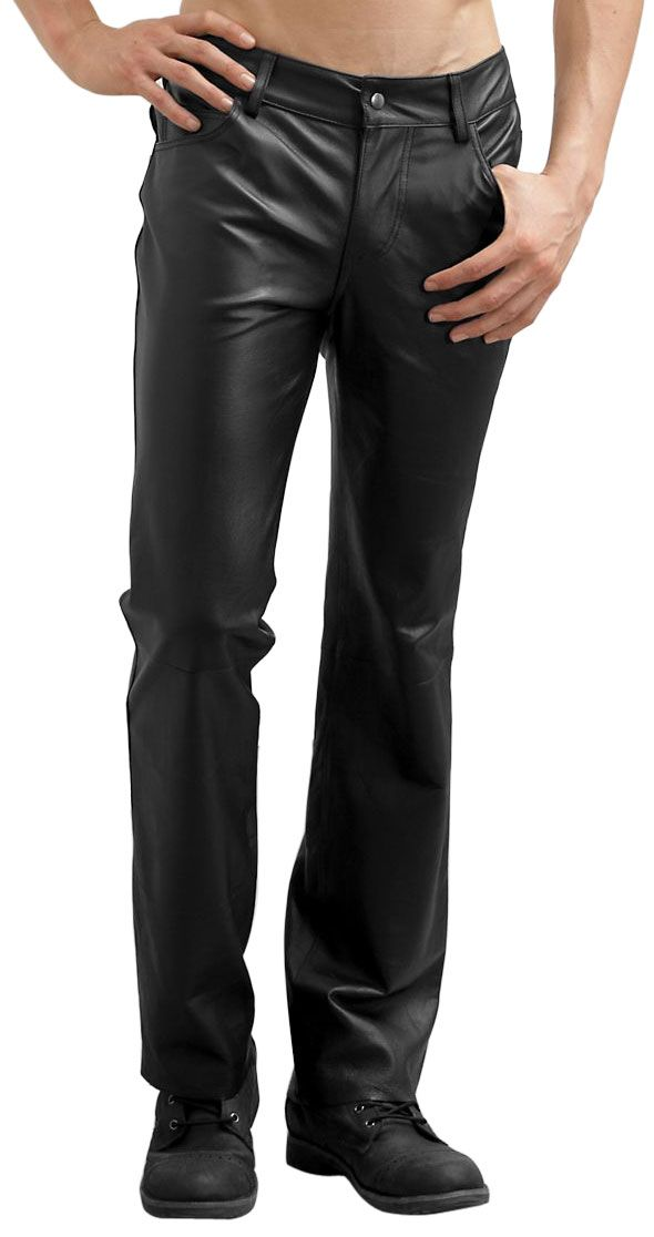 Our wide selection of genuine leather pants for men. With lots of styles to chose from including western and biker styles, you'll find just what you're looking for. Our premium quality leather pants and leather overpants are some of the best available and Exclusively by Jamin Leather.