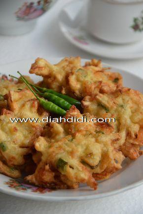 Diah Didi's Kitchen: Bakwan Jamur dan Udang..Gurih dan Yummy...^^