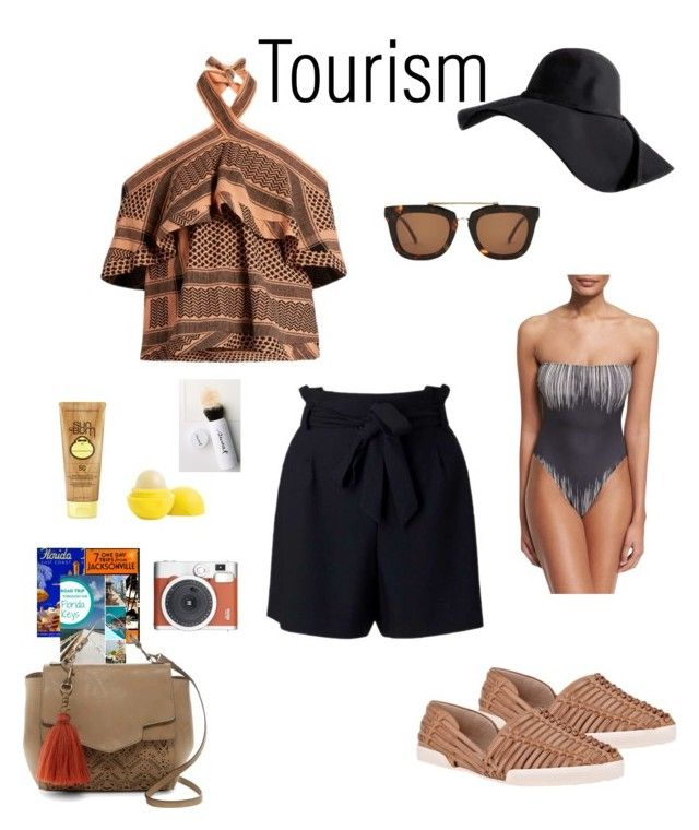 """Florida Tourism"" by njpryce on #Polyvore featuring #Elliottlucca, #CECILIE Copenhagen, #MissSelfridge, T-shirt & Jeans, #Fuji, #Norma Kamali, #SunBum, #Eos, #Sweat and Kaibosh"
