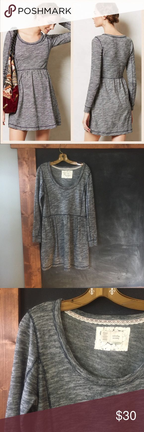 Saturday Sunday Dress by anthropologie Size M vguc Adorable Saturday Sunday desna Dress vguc perfect with leggings a long cardigan and a scarf. Such a cute dress!! Anthropologie Dresses