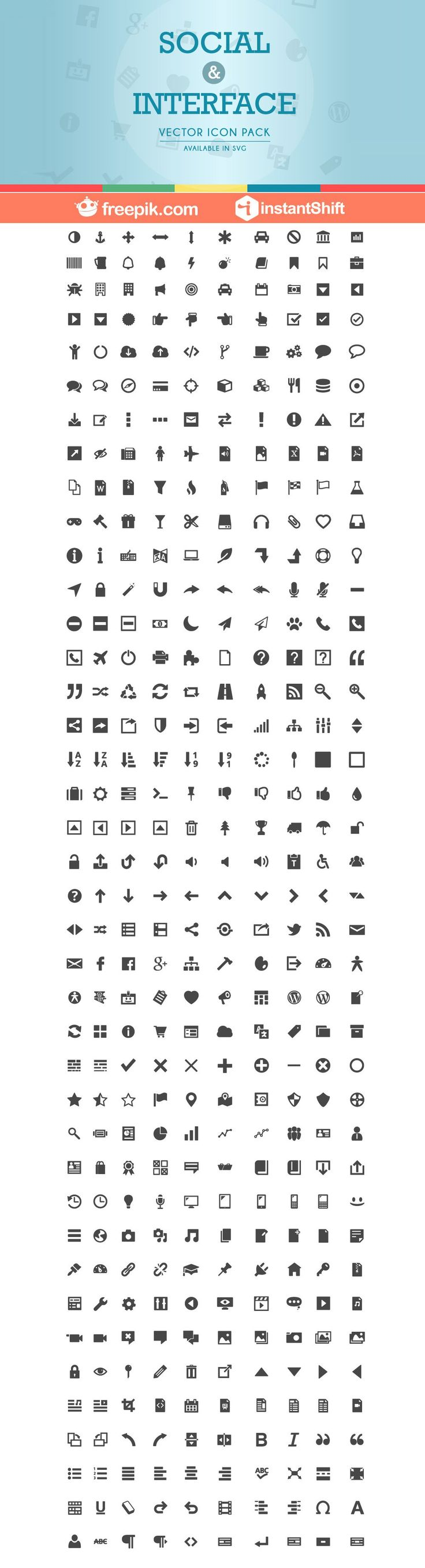 Free Social & Interface Icons