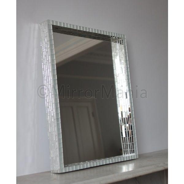 vancouver mosaic modern square wall mirror bathroom