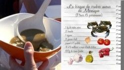 Bisque de crabes mous de Monique Mano