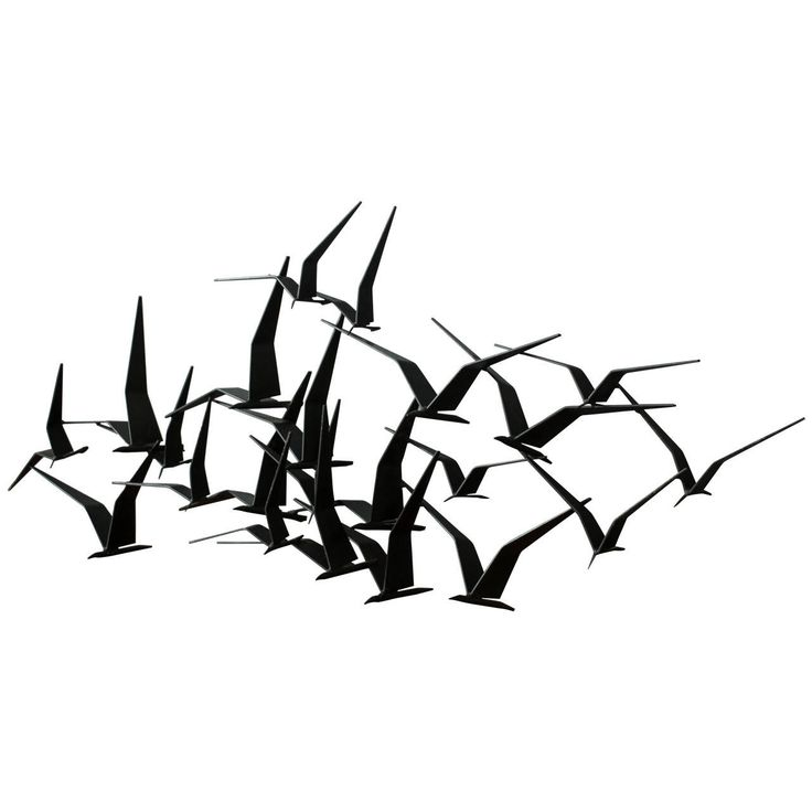 Vintage Mid-Century 'Birds in Flight' Metal Wall Sculpture signed C. Jere '69 | From a unique collection of antique and modern wall-mounted sculptures at https://www.1stdibs.com/furniture/wall-decorations/wall-mounted-sculptures/