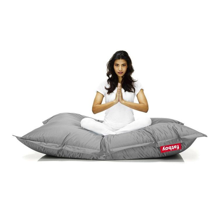 Fatboy Original 6-Foot Extra Large Bean Bag Chair Silver - ORI-SLR