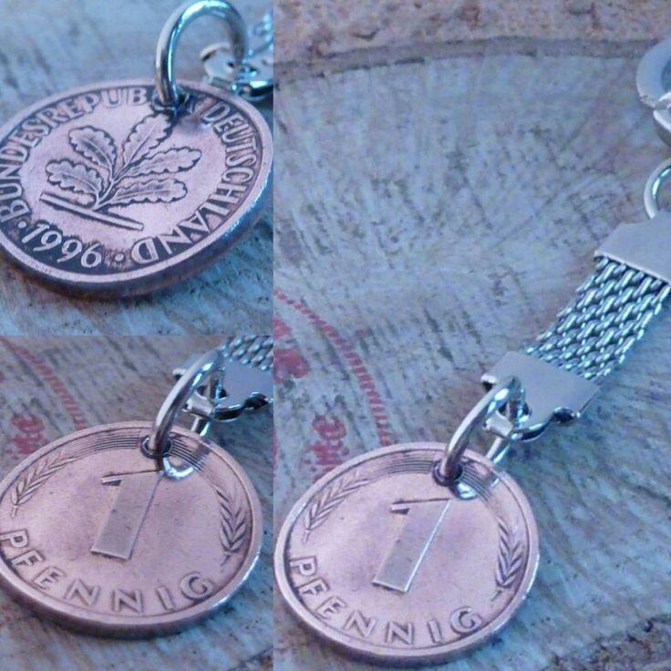 Herrlicher Glückspfennig Schlüsselanhänger gibt es bei www.muenzenringe.de