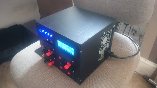 Picture of Bench PSU Power Supply from Old ATX with Arduino and LCD Monitor
