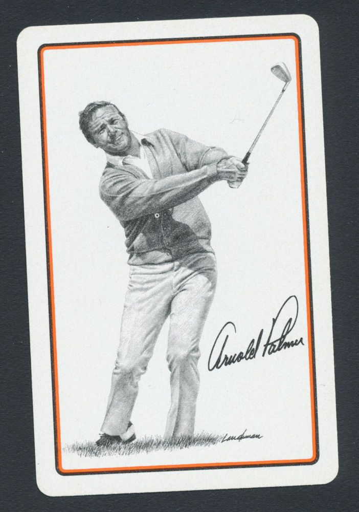 Arnold Palmer golf golfing playing card single swap jack of hearts - 1 card