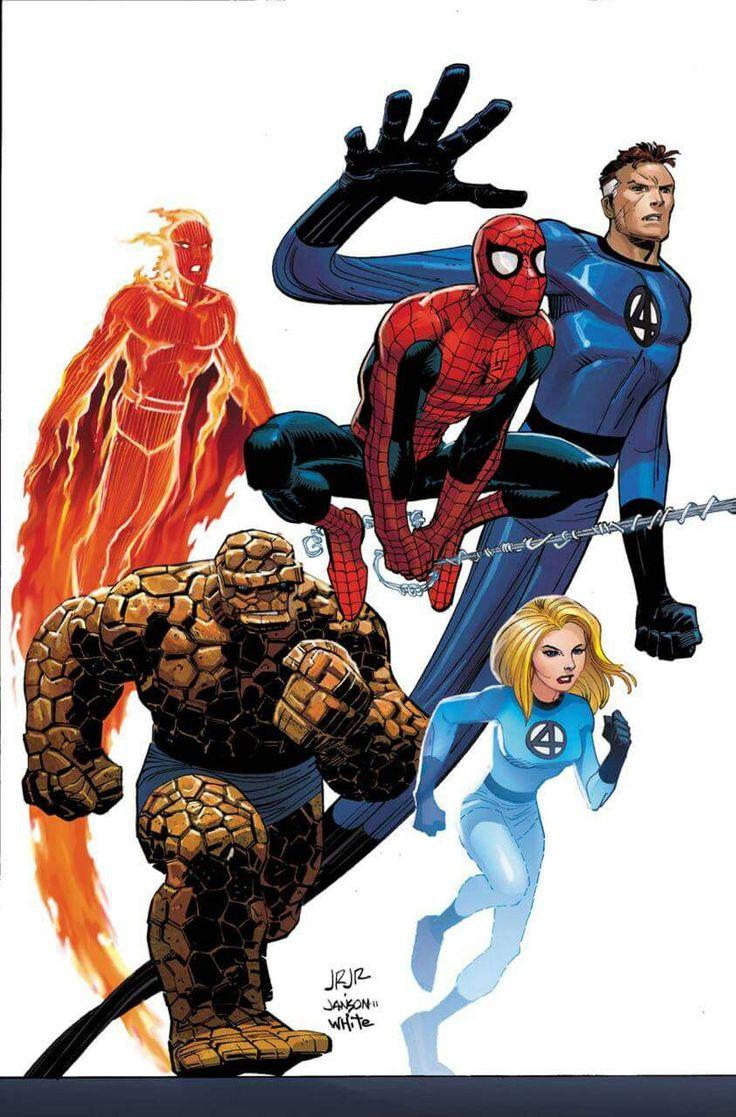 Spider-Man & The Fantastic Four by John Romita Jr.